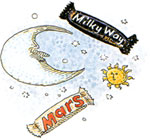 How Sweet It Is (and Was) illustration of candy bars