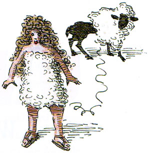 Lady attached to sheep illustration from Underwear